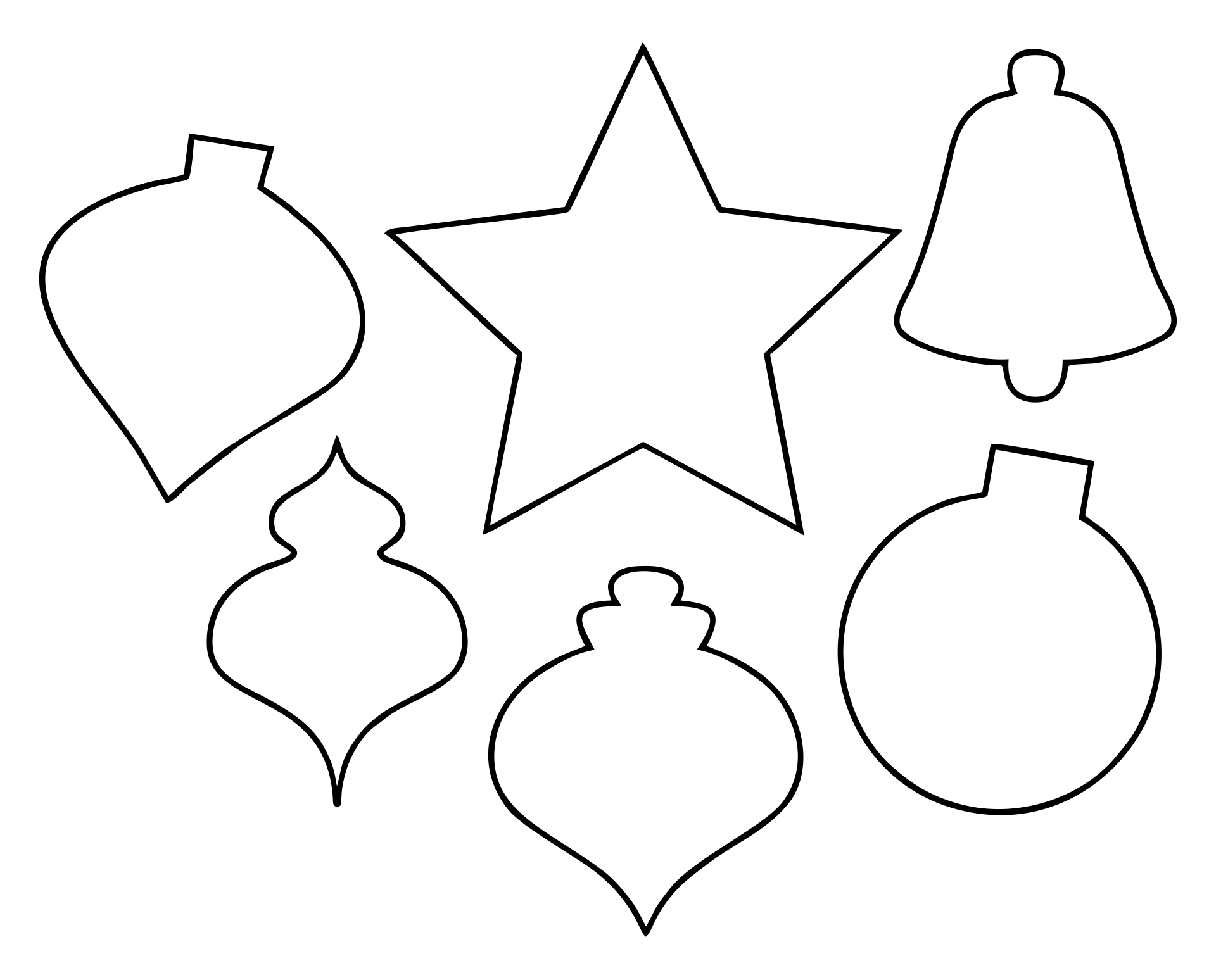 Printable Christmas Tree Ornament Patterns