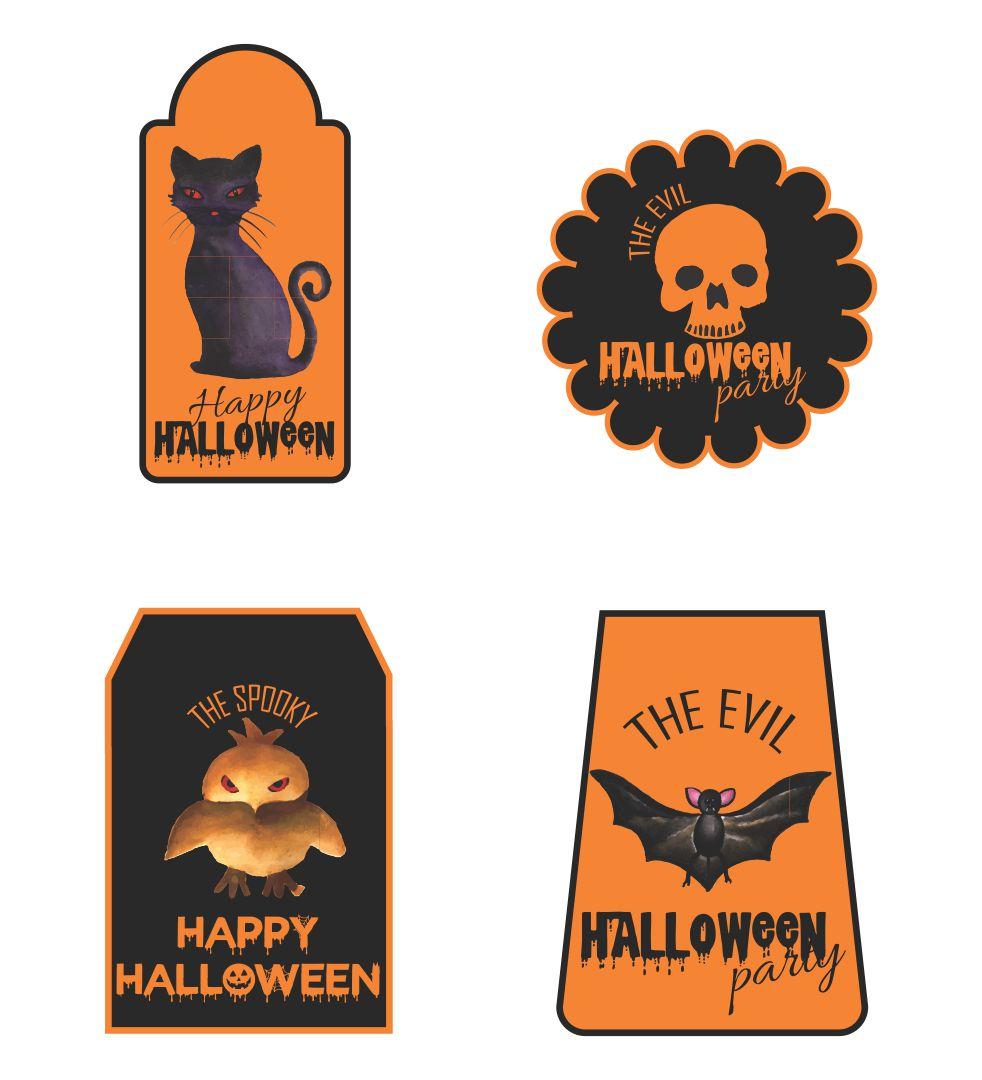 Printable Halloween Tags Goodie Bag
