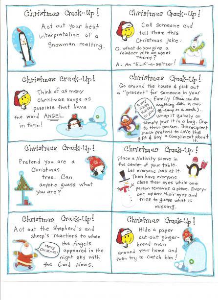 Printable Kids Christmas Jokes
