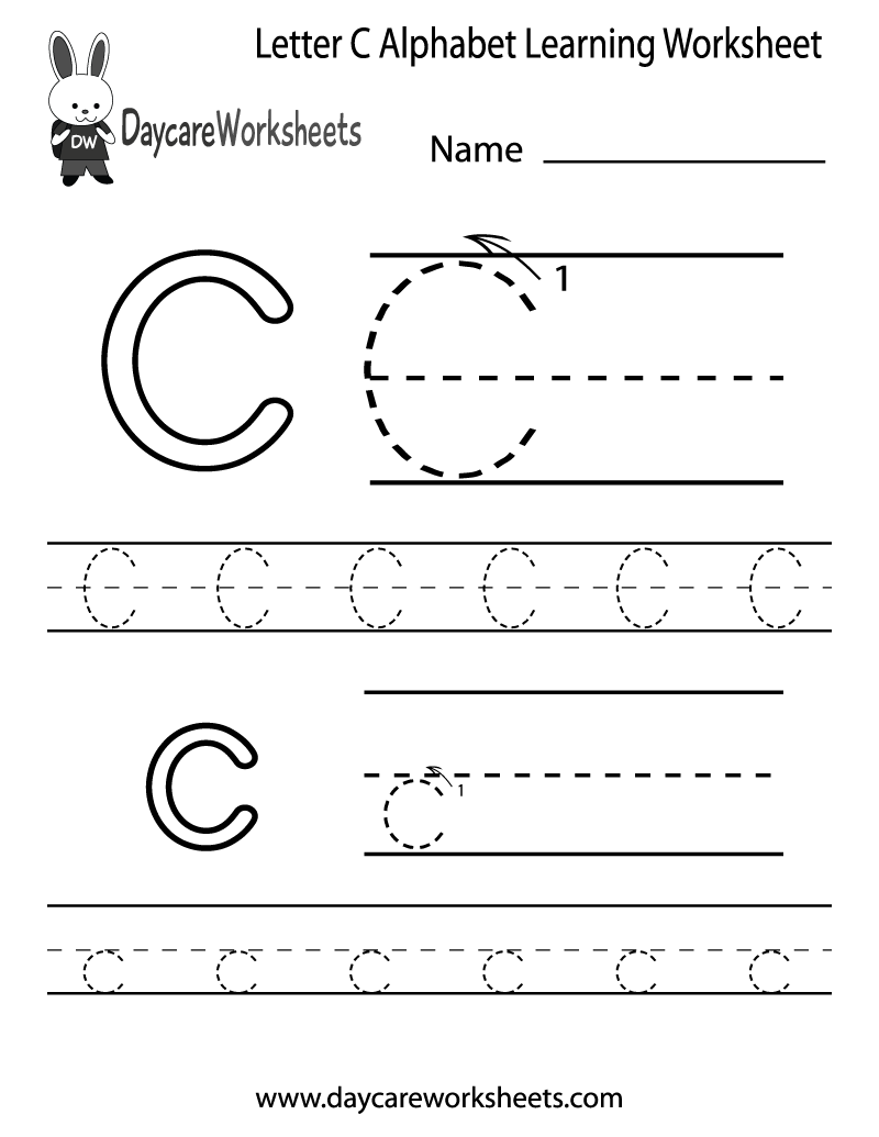 6 Images of Free Printable Preschool Worksheets Letter C