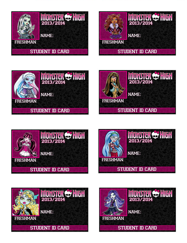 7 Images of Monster High Printable Cards