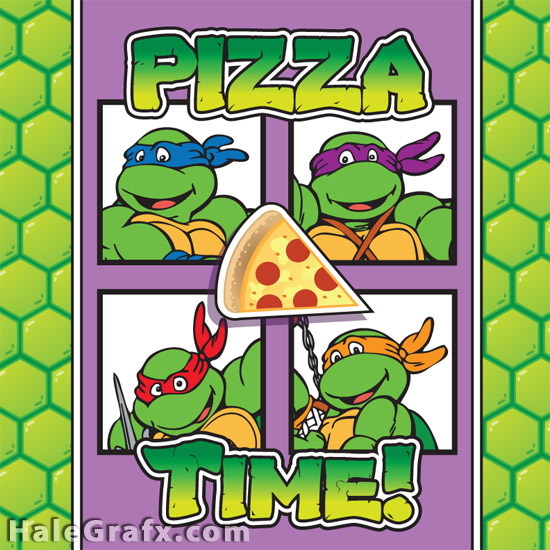 8 Images of Box Ninja Printable Turtles Pizza