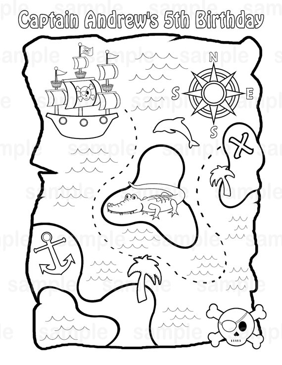 4 Images of Printable Treasure Coloring Pages