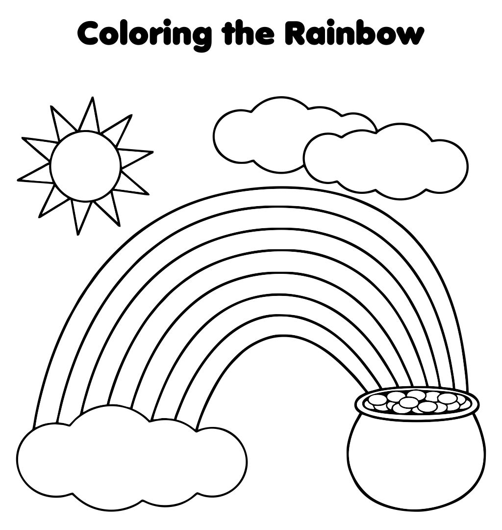 Printable Rainbows Worksheets