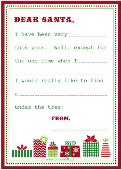 5 Images of Free Printable Santa Wish List Letters