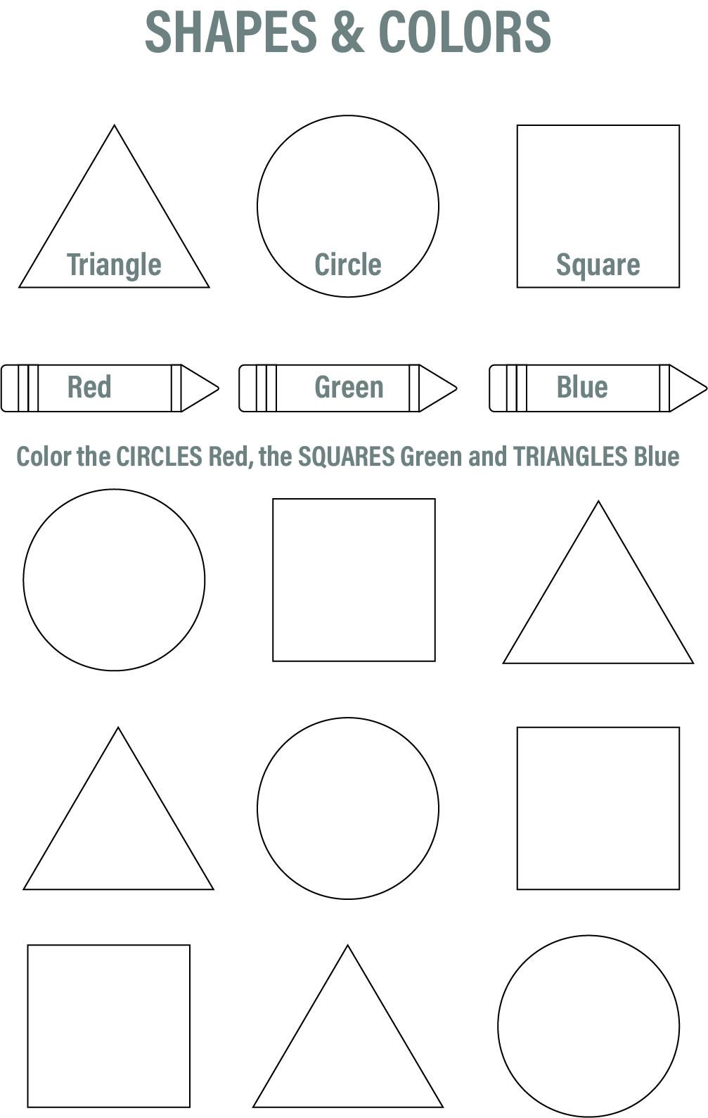 7 Best Free Printable Preschool Worksheets Colors ...