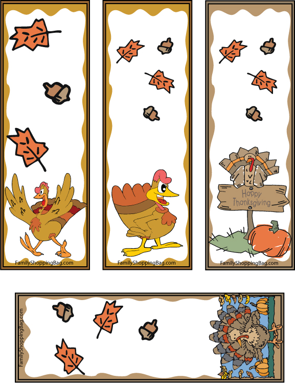 5 Images of Printable Thanksgiving Bookmarks To Color