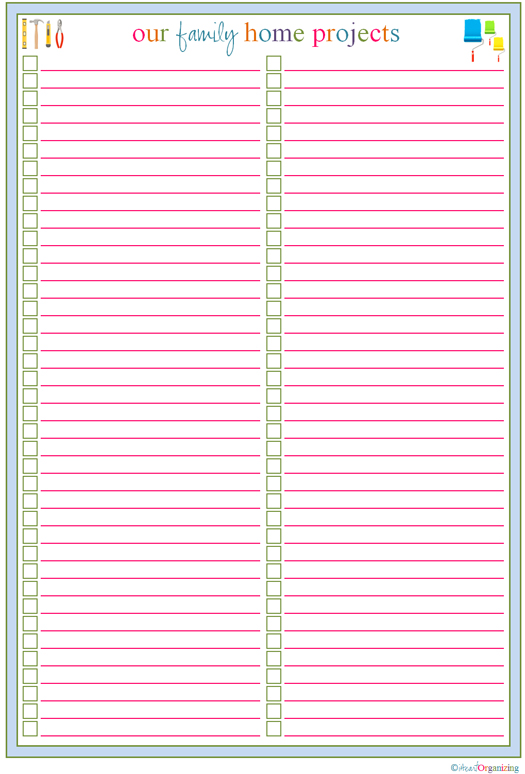 Printable to Do List Checklist