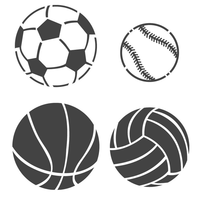 5 Images of Basketball Pumpkin Stencil Printable