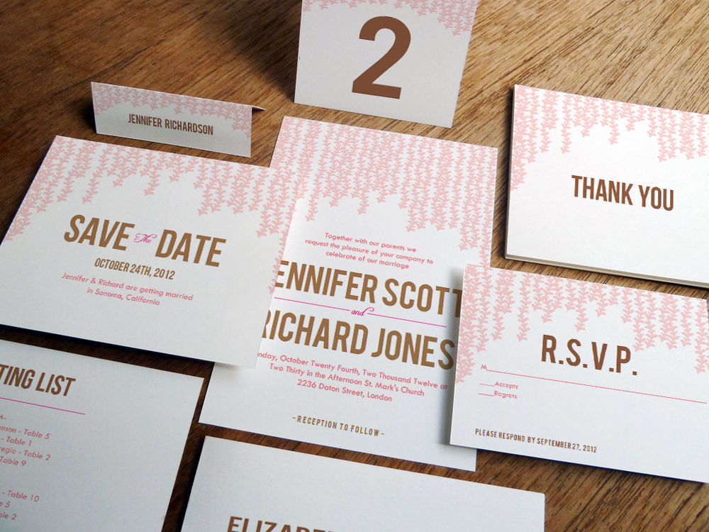 7 Images of Printable Wedding Stationery