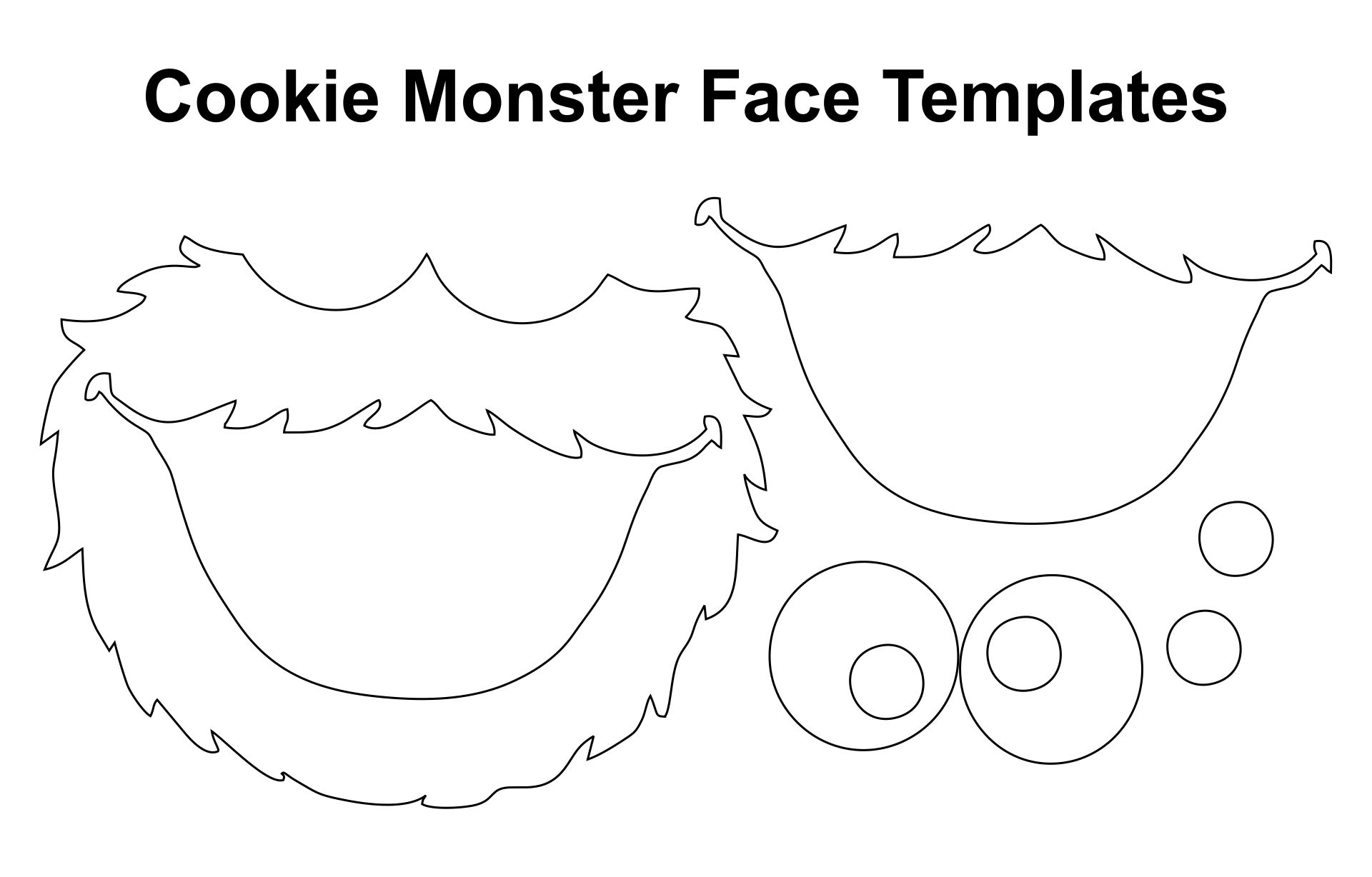 Sesame Street Cookie Monster Face Templates