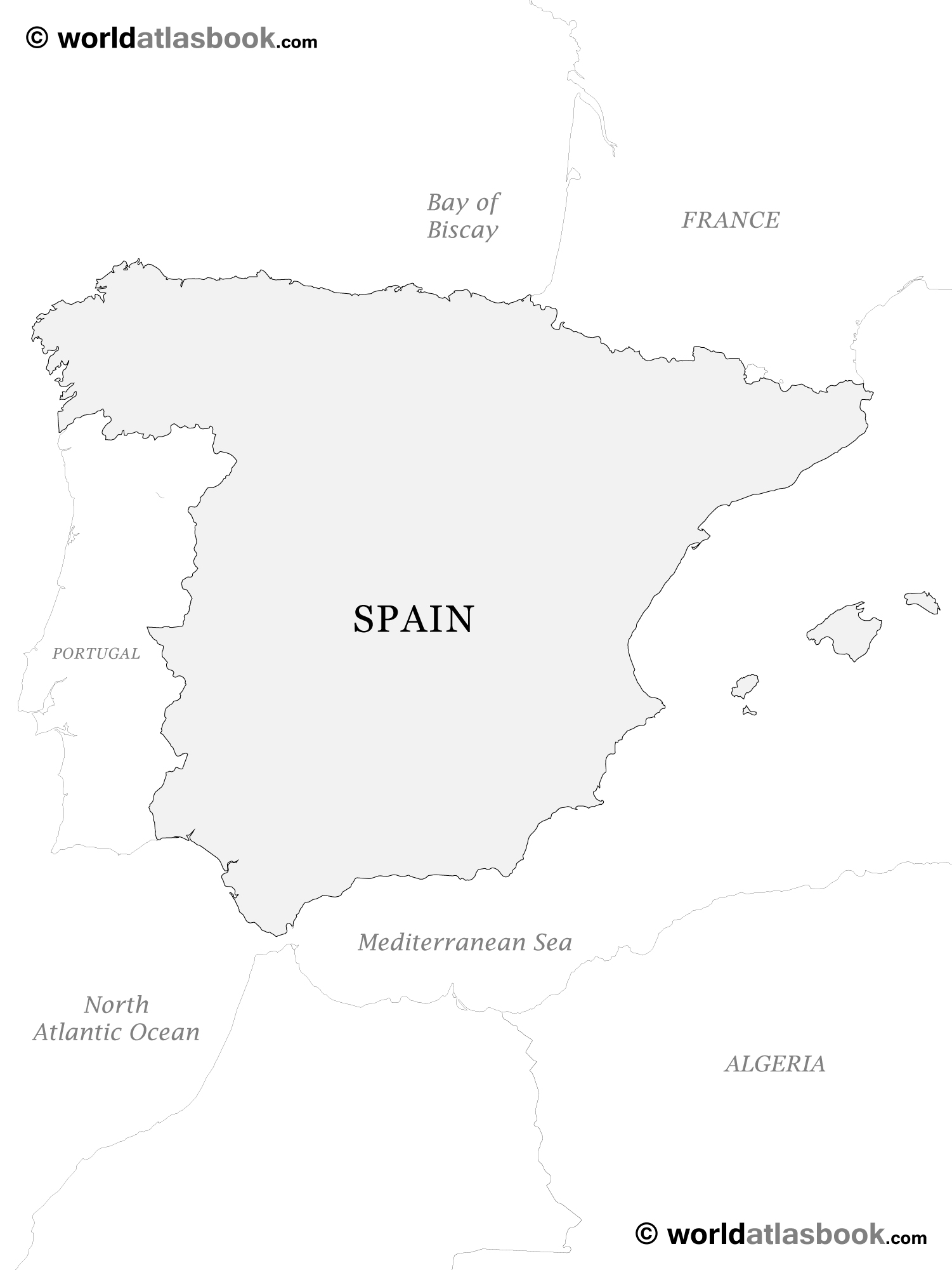 5 Images of Printable Map Of Spain