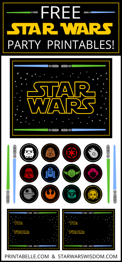 6 Images of Star Wars Free Printables Baby