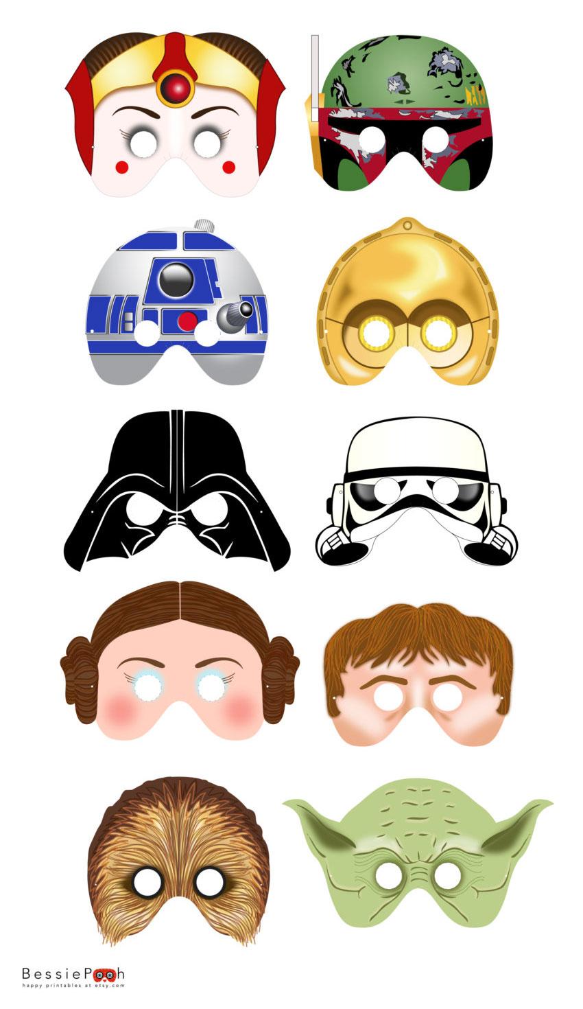 5 Images of Yoda Star Wars Printable Masks