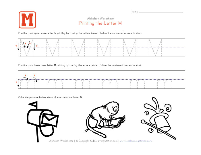 Number Names Worksheets : free preschool letter worksheets ~ Free ...