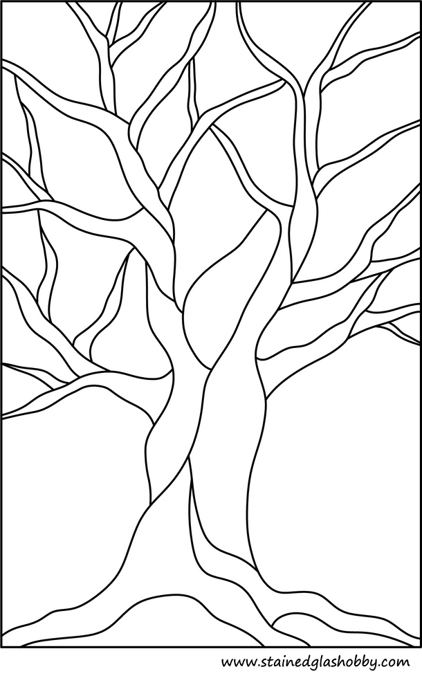 5 Images of Free Printable Stained Glass Tree Pattern