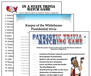 7 Images of Printable Patriotic Trivia