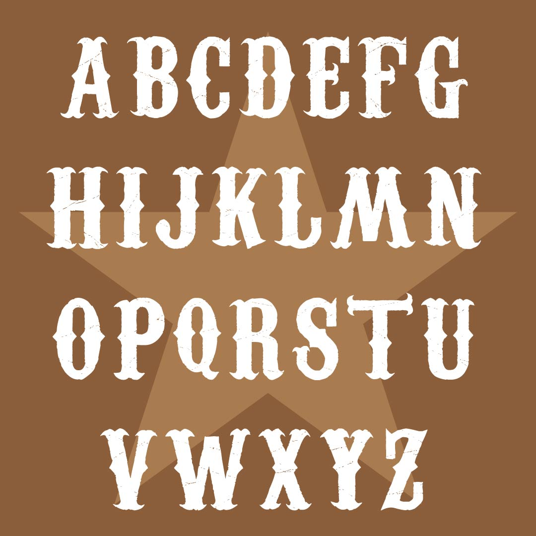 9 Images of Printable Western Alphabet Letters