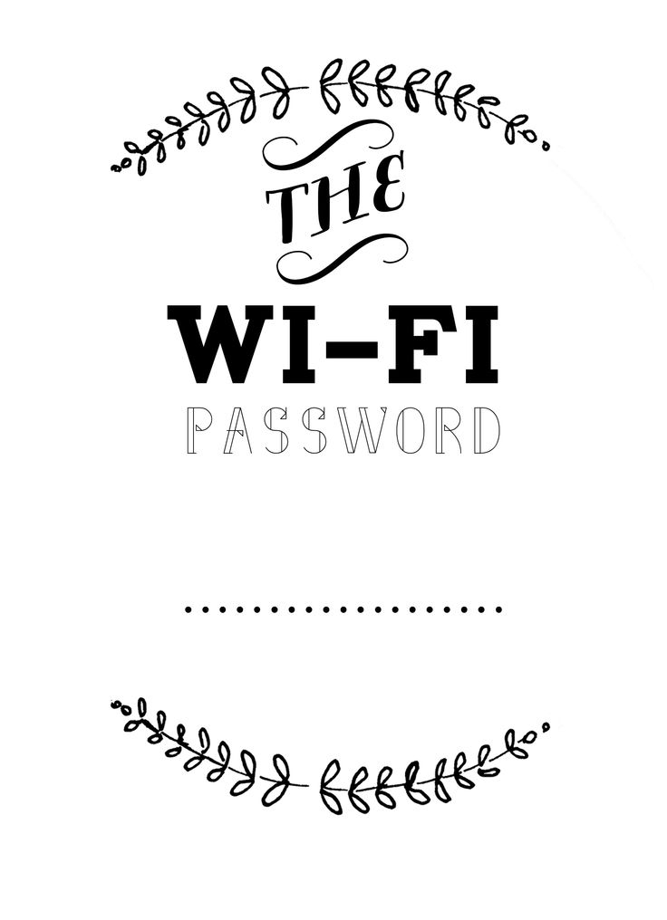 5 Images of Business Wifi Password Printable