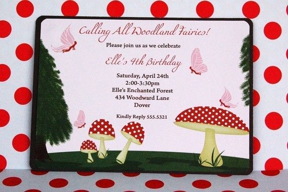 4 Images of Free Printable Woodland Fairy Invitations