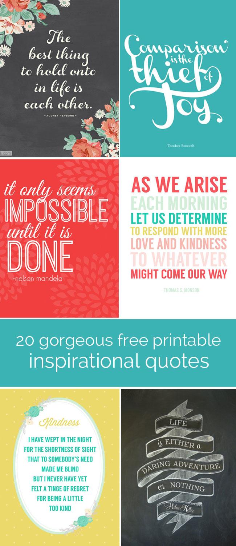 20 Free Printable Quotes
