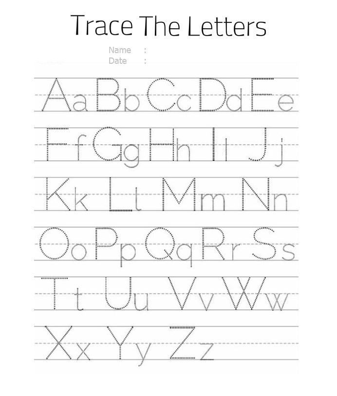Alphabet Letter Tracing Worksheets