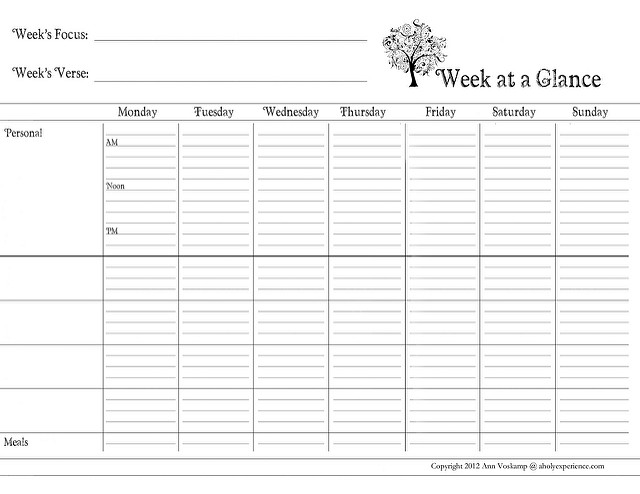 day at a glance calendar template 6 best images of day at a glance printable day at a