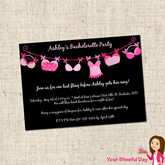 6 Images of Bachelorette Party Invitations Free Printable