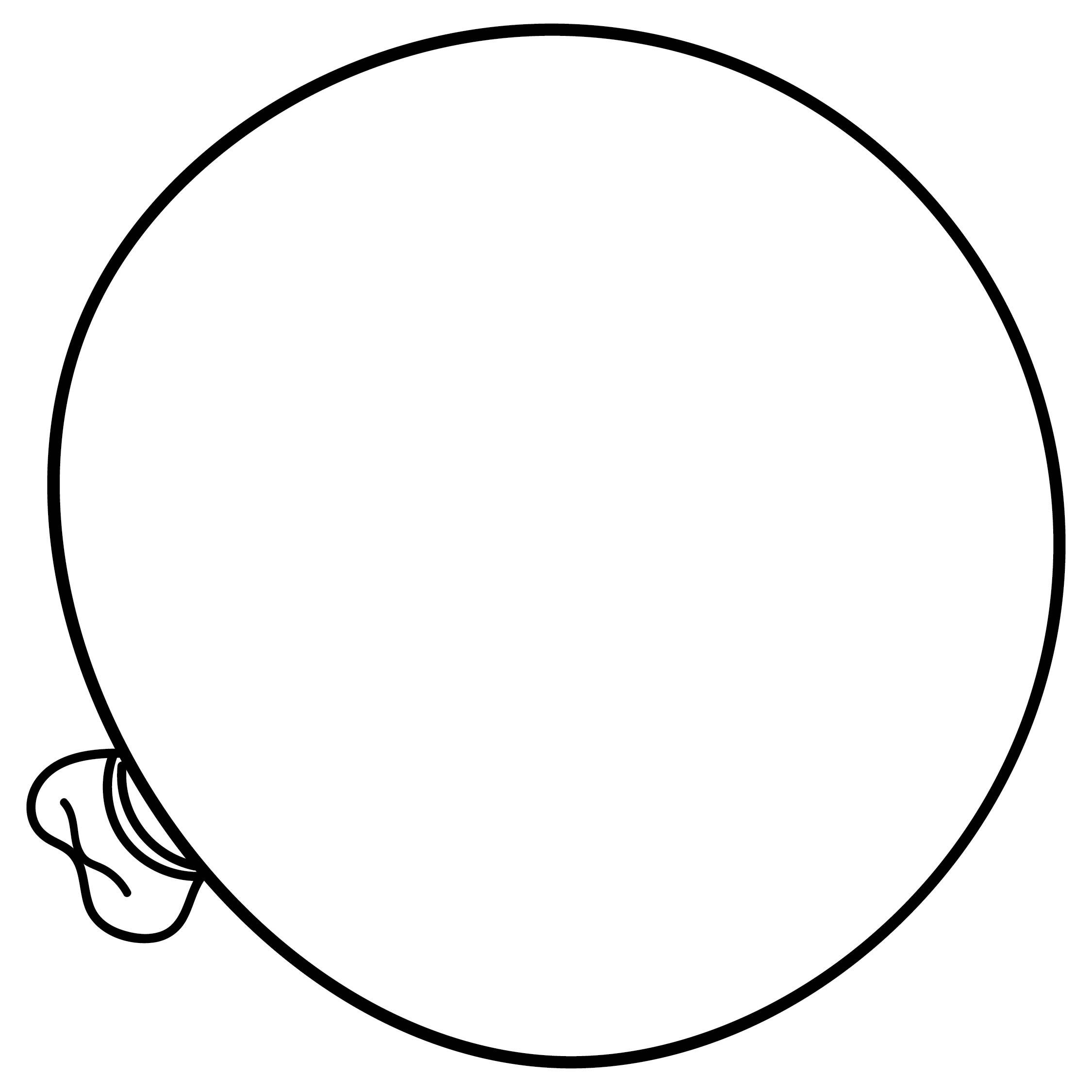 Balloon Clip Art Black Outline