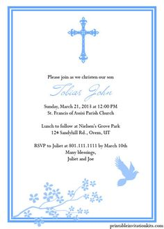 6 best images of printable religious invitations free for Free printable confirmation invitations template
