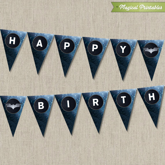 Batman Happy Birthday Banner Printable