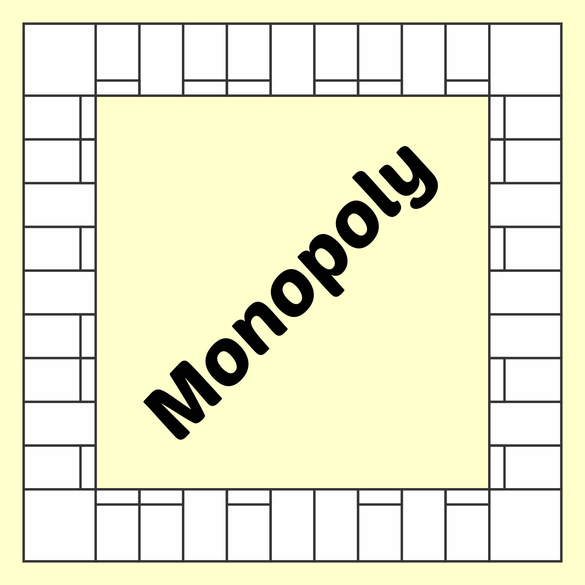 Blank Monopoly Board Game