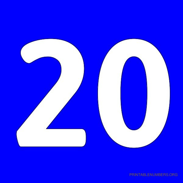 7 Best Images Of Printable Number 20