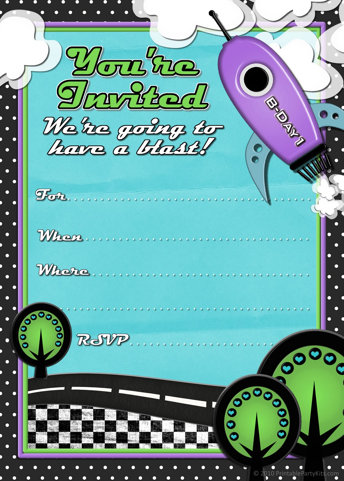 6 Images of Free Printable Party Invitations For Boys