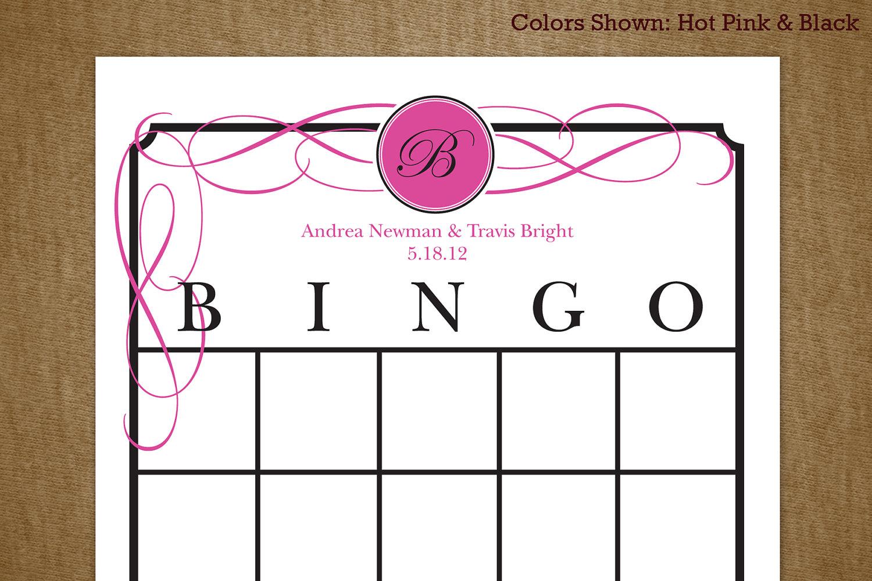 4 best images of printable bridal shower bingo blank cards