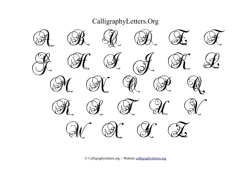 Best images of printable calligraphy letters m
