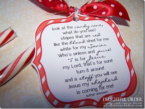 4 Images of Christmas Candy Cane Poem Printable
