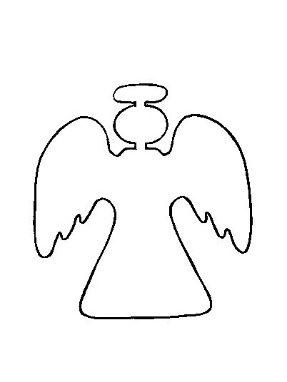 7 best images of angel cutouts printable angel tree cut for Angel coloring pages print out