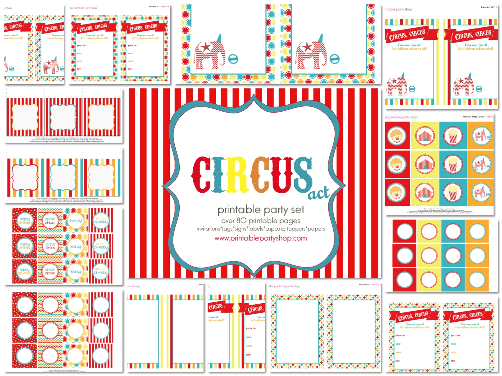 Circus Carnival Party Free Printables