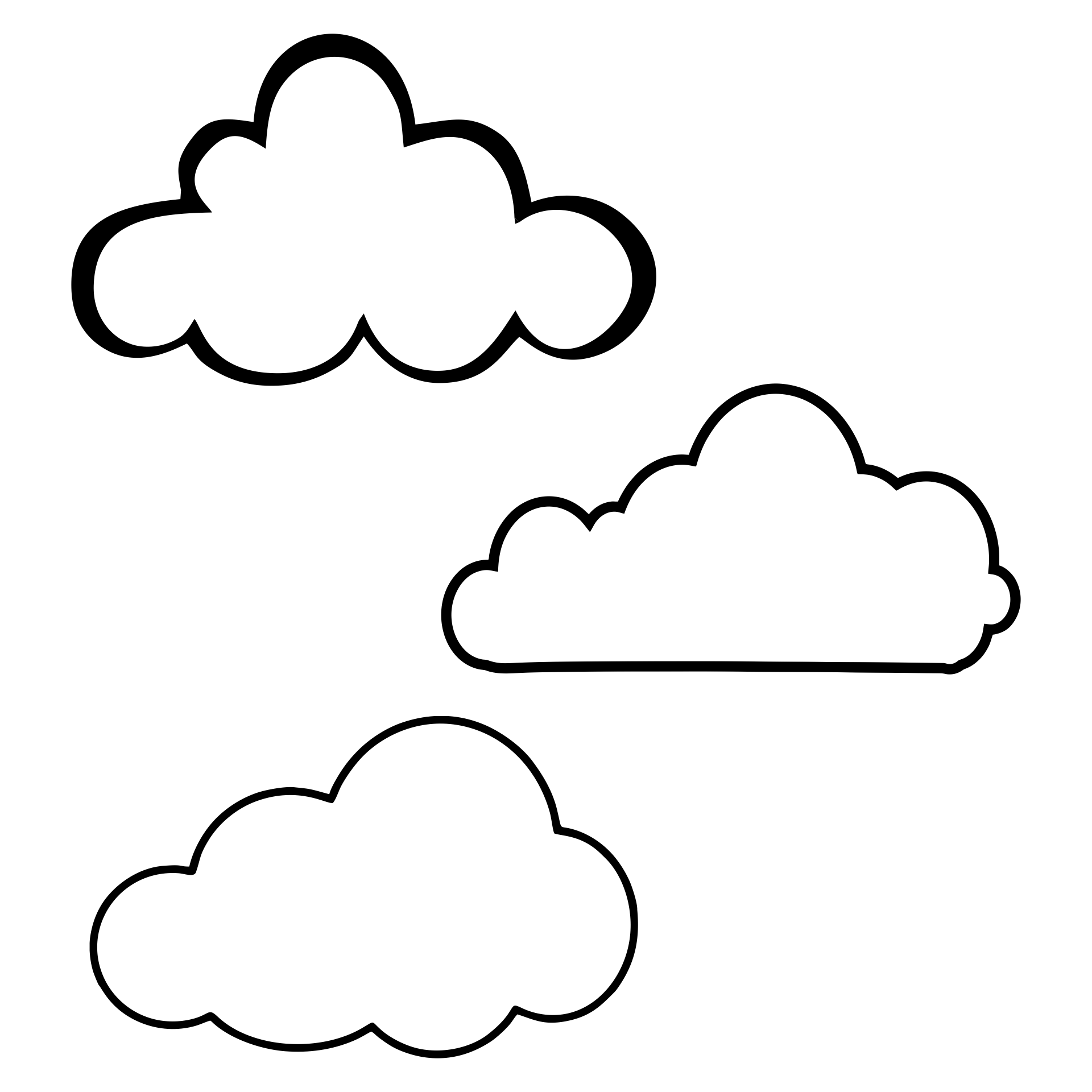 Cloud Shapes Clip Art