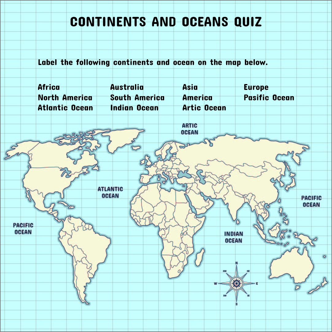 Picture of: 5 Best Continents And Oceans Map Printable Printablee Com