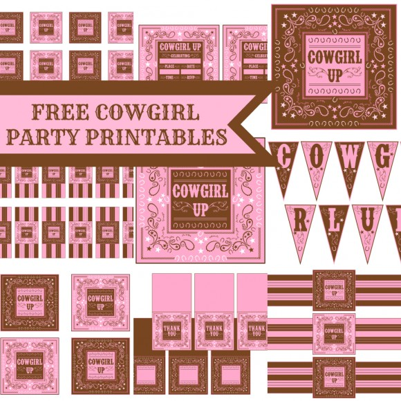 6 Images of Cowboy Birthday Party Free Printables