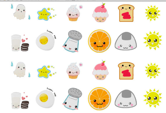 5 Images of Printable Food Stickers Kawaii