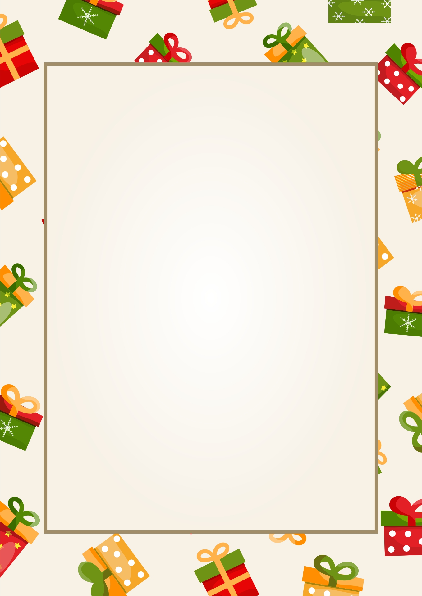 Free Christmas Stationery Templates Word 8 best images of printable ...