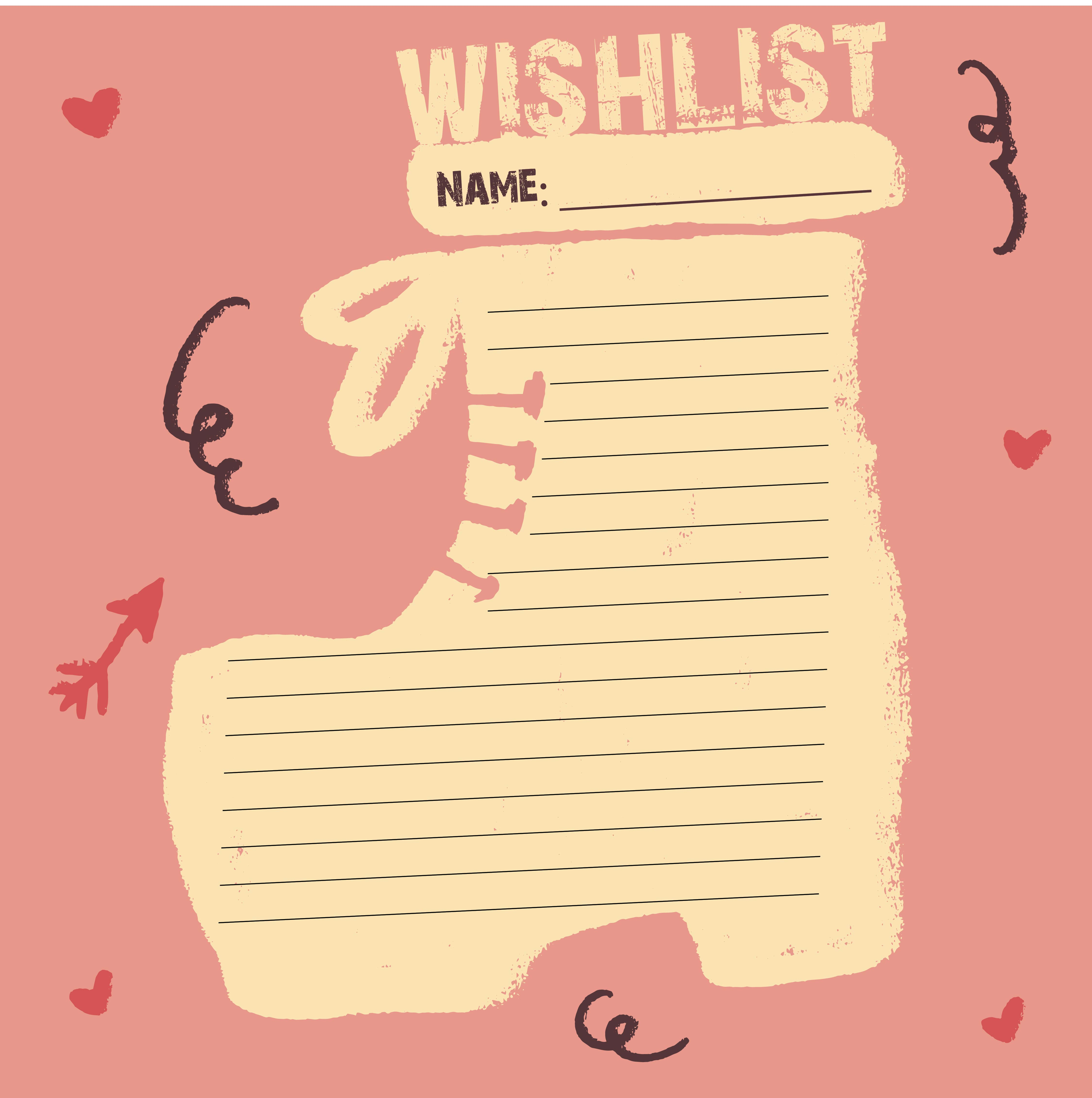 7 Images of Printable Christmas Wish List Template