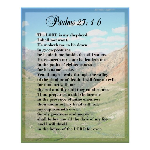 5 Images of Free Printable 23rd Psalm