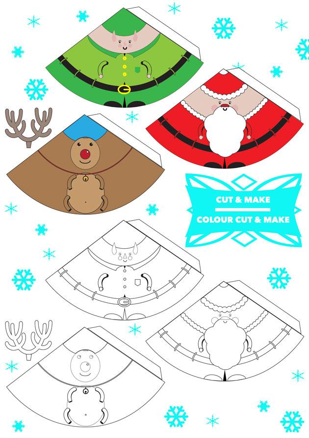 Printable 3D Christmas Decorations