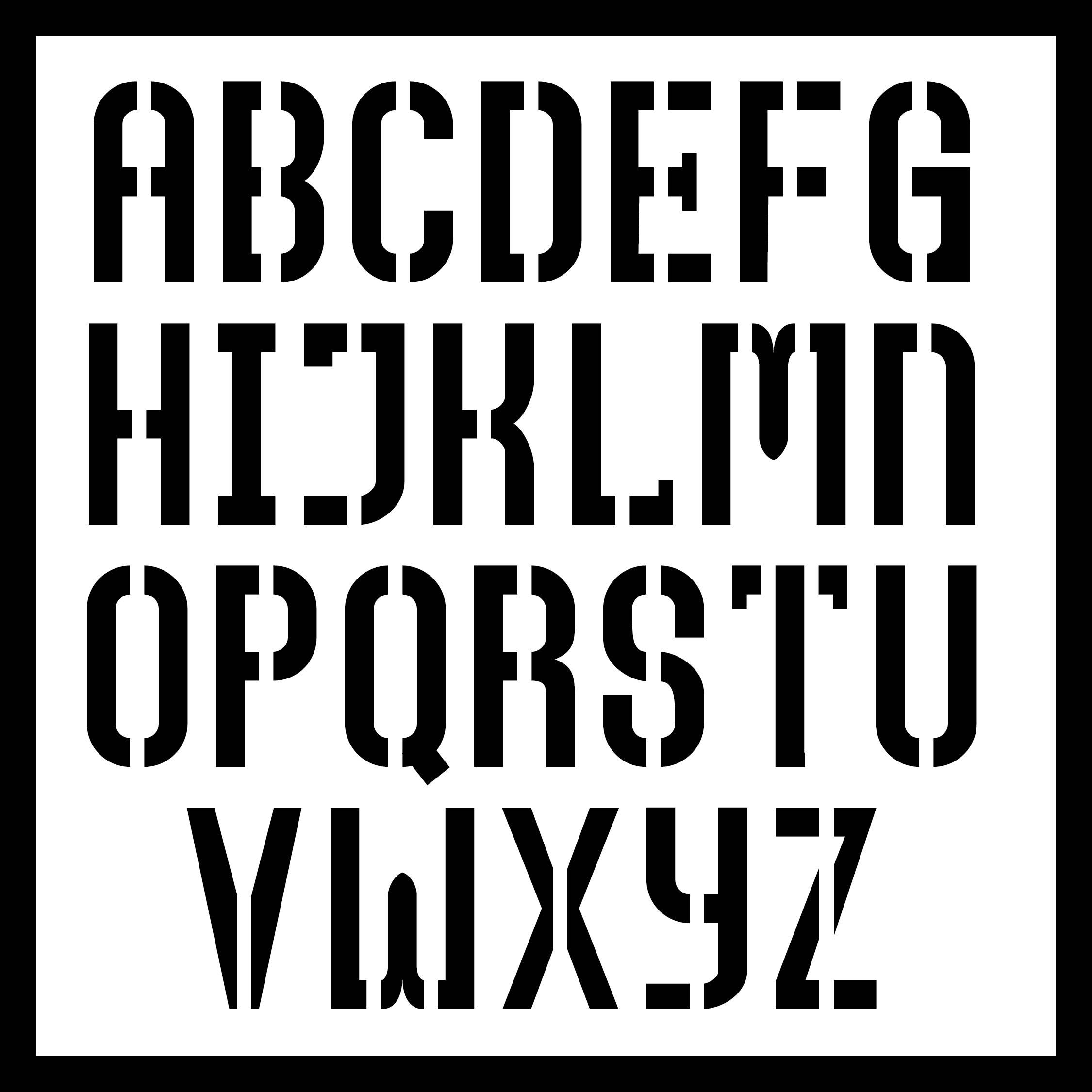 Printable 6 Inch Letter Stencil