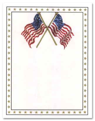 Free Printable American Flag Borders