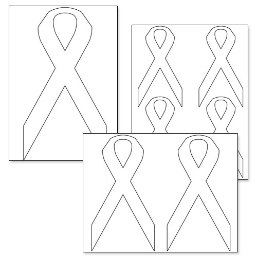 printable breast cancer ribbon coloring pages - 7 best images of cancer awareness ribbon template
